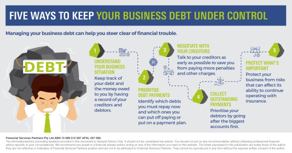 Infographic_Five ways to keep your business debt under control