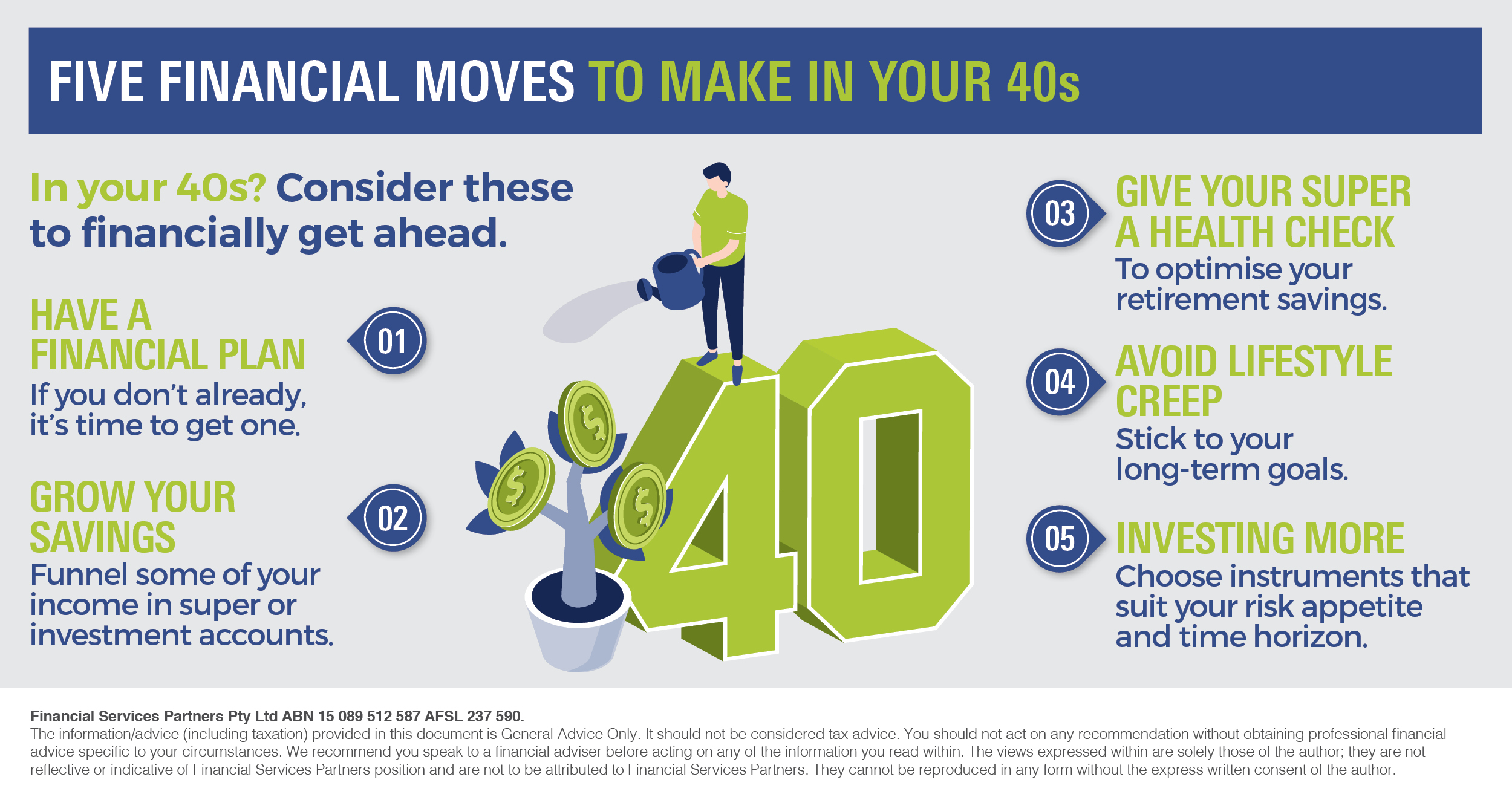 Infographic_Five financial moves to make in your 40s_FSP